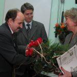 60 – lat Biblioteki Pedagogicznej w Chorzowie – gratulacje dla Pani Dyrektor Janiny Parysz 22.02.2006r.
