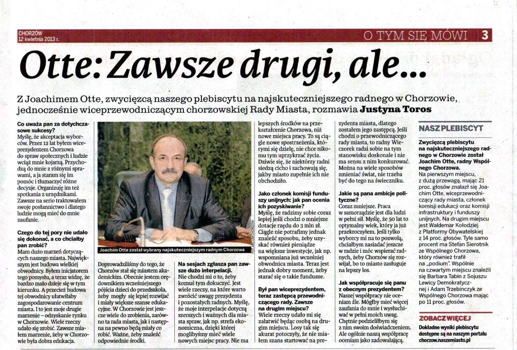 Artykuł z Dziennika Zachodniego